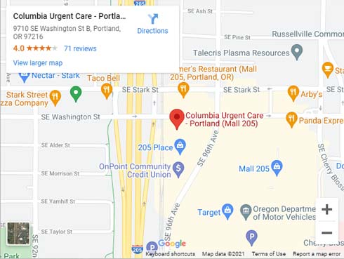 Directions to Urgent Care in Portland OR on SE Washington St